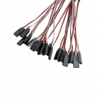 Lead 320mm type Y Servo Extension Cable Fil - Blanc + Noir (10 PCS)