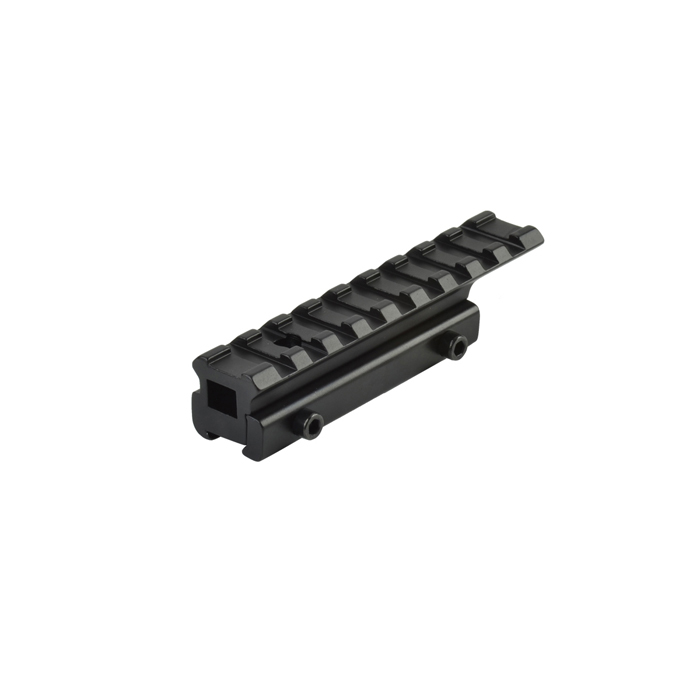 Aluminum Alloy 11mm to 20mm Weaver Rail Scope Mount Base Adapter - Black stepper motor t type wire rod linear guide rail electric slide rail automatic rail control module table stock
