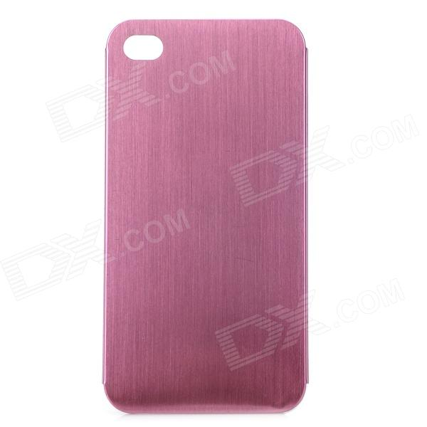 Protective Titanium Alloy Back Case for IPHONE 4 / 4S - Pink