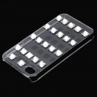 Protective Plastic + Crystal Back Case for IPHONE 4 / 4S - Silver + Transparent