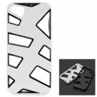 KWEN O-1 Hollow-Out Protective Plastic + TPU Back Case for IPHONE 5 / 5S - White + Black