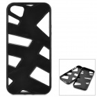 KWEN O-1 Hollow-Out Protective Plastic + TPU Back Case for IPHONE 5 / 5S - Black
