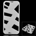 KWEN O-1 Hollow-Out Protective Plastic + TPU Back Case for IPHONE 5 / 5S - White