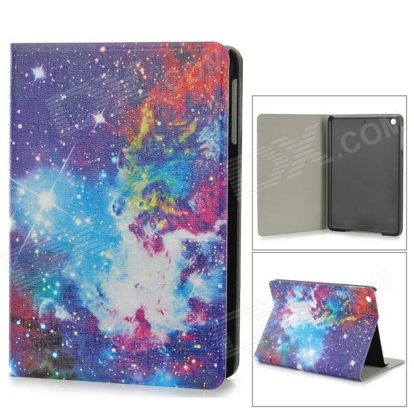 Starry Sky Style Protective PU Leather + Plastic Case w/ Auto Sleep for IPAD MINI - Blue + Purple blue sky чаша северный олень