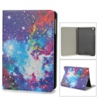 Starry Sky Style Protective PU Leather + Plastic Case w/ Auto Sleep for IPAD MINI - Blue + Purple
