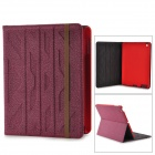 Stylish Protective PU Leather Case for IPAD 2 / 3 / 4 - Purple