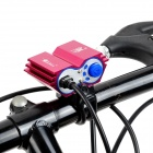 2000lm 2-LED 4-Mode Cool White Light Bicycle Light - White + Red + Multi-Colored