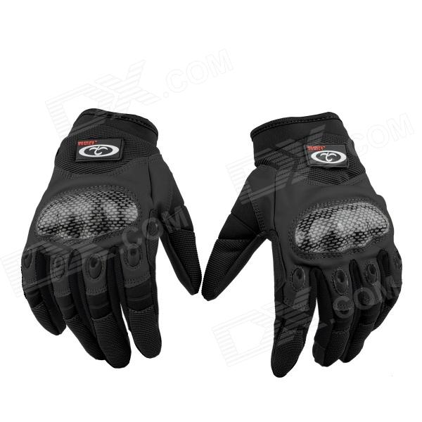 OUMILY Outdoor Tactical Full-finger Gloves (The Second Generation) - Black (Size-XL / Pair)
