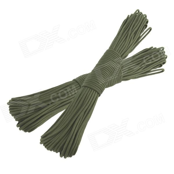 OUMILY Military Army Survival Parachute Rope - Army Green (30M / 140KG / 2 PCS) oumily military army survival parachute rope khaki 30m 140kg 2 pcs