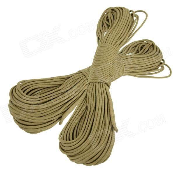 OUMILY Military Army Survival Parachute Rope - Khaki (30M / 140KG / 2 PCS) oumily military army survival parachute rope khaki 30m 140kg 2 pcs