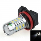 HJ-011 H8 16W 800lm 12-SMD 5630 LED + 2-LED White Light Car Foglight / Headlamp (12~24V)
