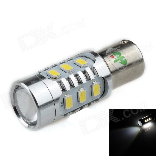HJ-013 1156 16W 720lm 12-SMD 5630 LED + 2-LED White Light Car Foglight / Headlamp (12~24V) highlight h3 12w 600lm 4 smd 7060 led white light car headlamp foglight dc 12v