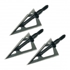 3-blade Fixed Blade Ultra Sharp Hunting Arrow Head Broadheads Laser Welded 100g (3 PCS)