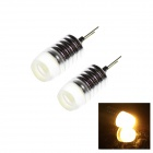 TZY H1029W G4 1.5W 30lm SMD 5050 LED Warm White Car Foglights / Signal Lamps (12V / 2 PCS)