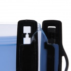 "WP-01 Universal Waterproof Bag Case w/ Strap / Armband for 5"" Phone - Black + Translucent Blue"