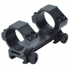 Q30 30mm Caliber U-Shaped Aluminum Alloy Bracket Dual-Scope Mount w/ Hex Wrench - Black