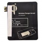 5 Qi Wireless Power Charger + Wireless Charger Receiver for Samsung Galaxy S3 - Blue + Black
