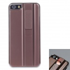 FIRE CASE Protective Plastic Back Case for IPHONE 5 / 5S w/ USB Rechargeable Lighter - Red Brown