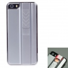 FIRE CASE Protective Plastic Back Case for IPHONE 5 / 5S w/ USB Rechargeable Lighter - Silver White