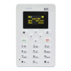 "AEKU M5 Fashionable GSM Card Bar Phone w/ 1.6"" / Radio / Alarm Clock - White"