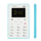 "AEKU M5 Fashionable GSM Card Bar Phone w/ 1.6"" / Radio / Alarm Clock - Sky Blue + White"