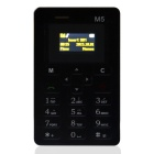"AEKU M5 Fashionable GSM Card Bar Phone w/ 1.6"" / Radio / Alarm Clock - Black"