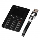 "AEKU M5 Fashion GSM Card Bar Phone w/ 1.6"", Radio, Alarm Clock - Black"