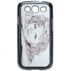 Shirley Temple Pattern Protective ABS Back Case for Samsung Galaxy S3 i9300 - Black + Off-white