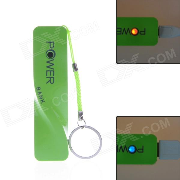 "A5 Rechargeable ""2600mAh"" Mobile Power Source Bank w/ LED Power Show - Green"
