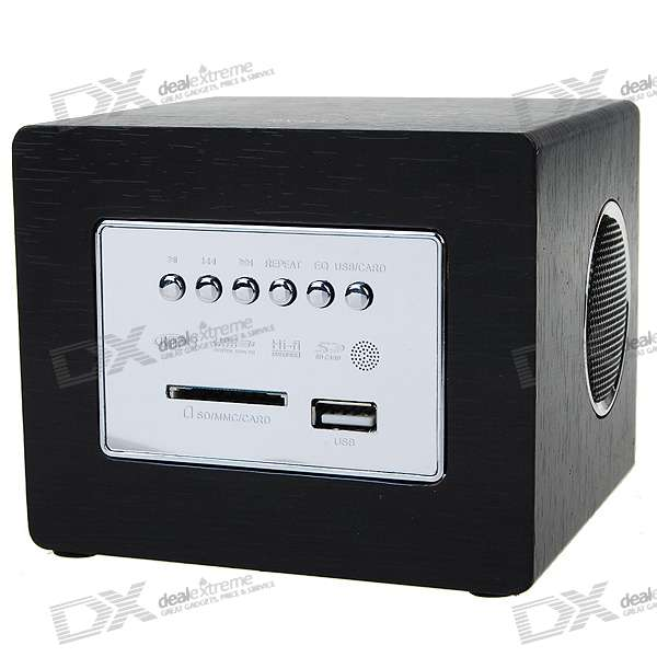 USB Rechargeable Portable MP3 Music Speaker with SD/MMC/USB (3.5mm)