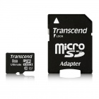 Transcend 8GB microSDHC Class 10 UHS-I 600x Flash Memory Cards 90MB/s