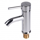 BAIYU BY-8329 Copper Hot And Cold Water Supply Single Handle Faucet Set - Silver
