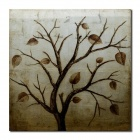 Larts DX2014-02-01 Withered Leaves Patterb Canvas Hand-Painted Oil Painting - Brown