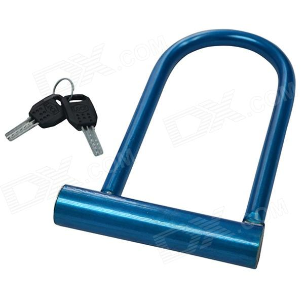 U Shape 3002 Bicycle Lock / Bicycle U-lock Burglarproof Lock - Deep Blue