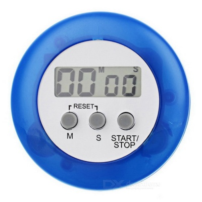 Mini Digital Kitchen Timer - White + Blue