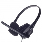 KEENION KDM-108 Stylish Stereo Bass Headphones w/ Volume Control / Microphone - Black (3.5mm Plug)