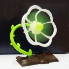 Plum Blossom Tree Style 5-Blade 2-Mode ventilador USB - blanco + Brown + Verde