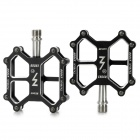 LYCCO KC006 DIY Replacement 7075 Aluminum Alloy Pedal for Mountain Bicycle - Black (2 PCS)