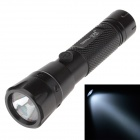 Small Sun ZY-301 3W LED 200lm 6000K White Light Flashlight - Black (1 x AA)