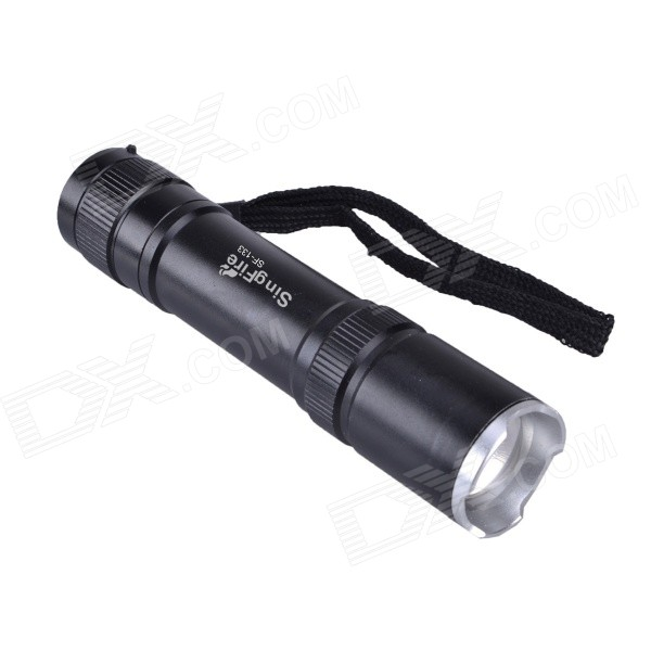SingFire SF-133 750lm 5-Mode White Zooming Flashlight - Black (1 x 18650)