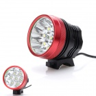 7T6 7-LED 5000lm 3-Mode Cool White Bike Light - Black + Red (6*18650)