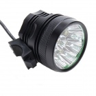ZHISHUNJIA ZSJ-L70 7-LED 4000lm 3-Mode White Bicycle Headlamp - Black (6 x 18650)