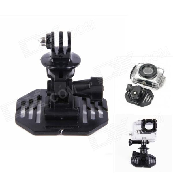 H020 Universal 1/4 Screw Helmet Mount Holder for DV / SupTig / GoPro Hero 4/2 / 3 / 3+ - Black calvin klein new cream woven panel sleeveless dress msrp $229 dbfl
