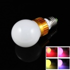 LED E27 3W 3000~6000mcd RGB Bulb w/ Remote Controller - Golden + White (85~265V)