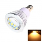 E14 6W 220lm 2500K 16 x SMD 5730 LED Warm White Energy Saving Light Bulb - White (AC 220~240V)