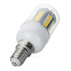 LED E14 3W 240lm 27-SMD 5050 Warm White Light Corn Bulb w/ Cover (AC 220~240V)