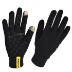 MONTON Cycling Thin Riding Full-Finger Gloves - Black (XL)