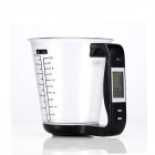 "Eastor LN0018 1.5"" LCD Digital Capacity Measuring Cup Thermometer Scale - Black (3 x CR2032)"