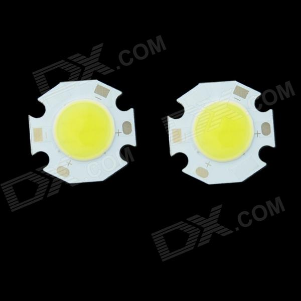 WaLangTing Round 3W 270lm 6500K COB LED White Light Source - Yellow + White (9~11V / 2 PCS)