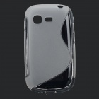 Protective S Style TPU Back Case for Samsung Galaxy Pocket Neo S5310 - Translucent White